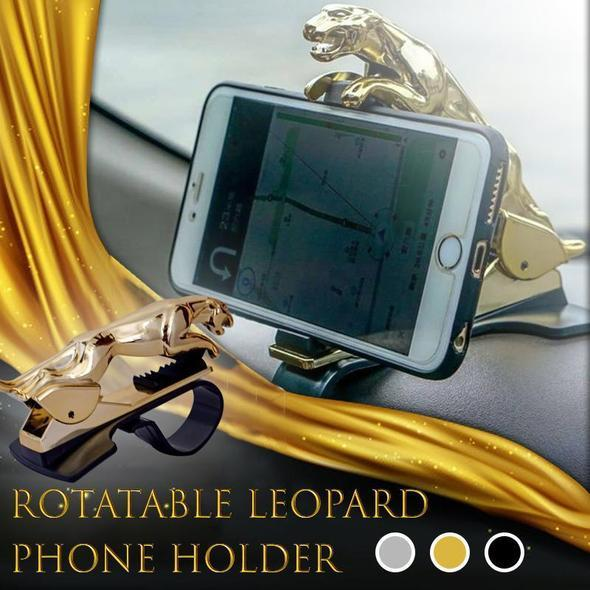 Rotatable Leopard Phone Holder