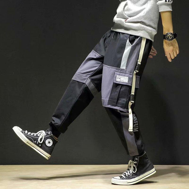 Men's Casual Contrast Color Loose Pants