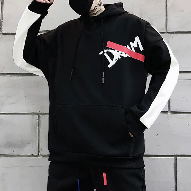 Street Fashion Loose Printed Hoodie