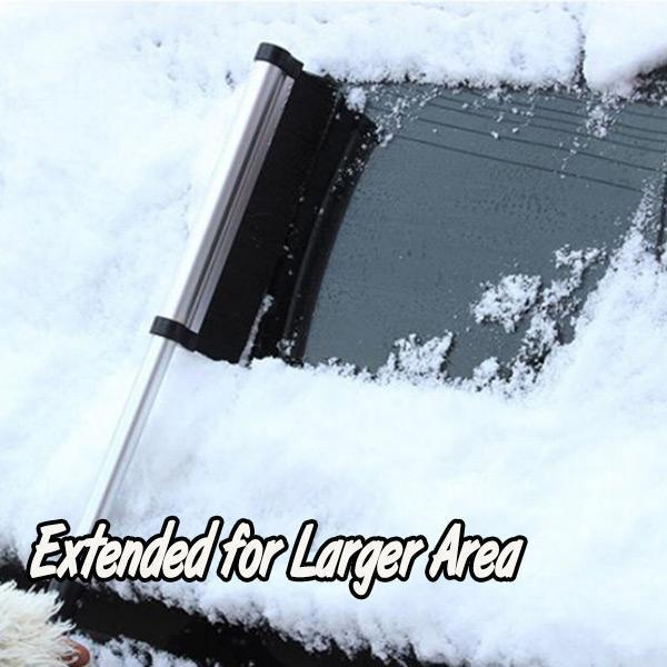 2-in-1 Extendable Telescopic Snow Shovel and Ice Scraper