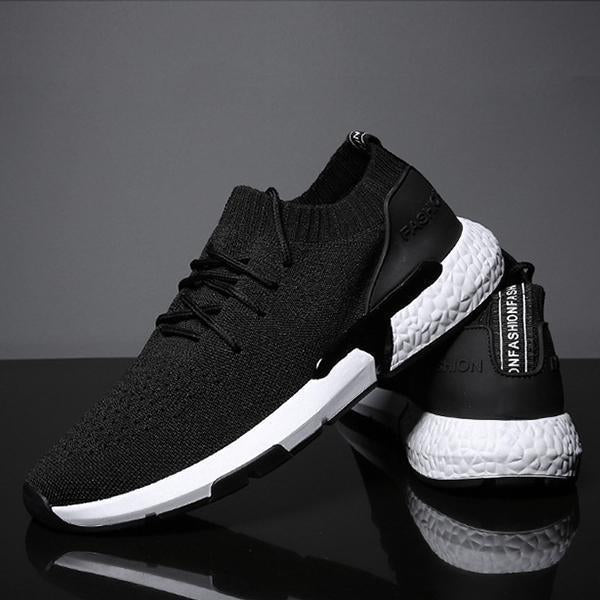 Men's Casual Woven Mesh Breathable Sneakers