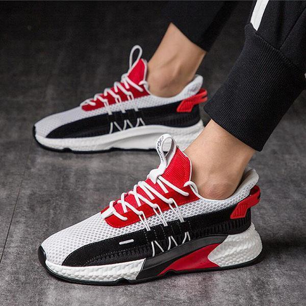Flying Woven Sneakers Casual Lightweight Breathable Fashion Men's Shoes