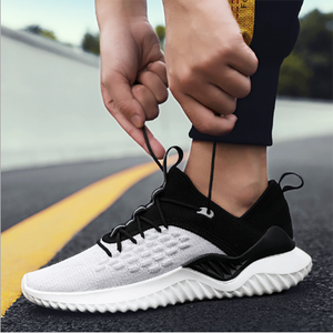 2019 New Men's Casual Fashion Flying Woven Mesh Sneakers