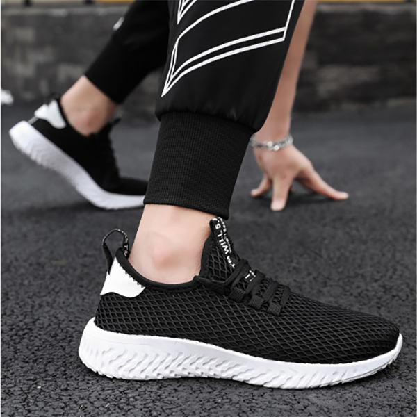 Men's Breathable Mesh Fashion Trend Flying Weaving Sneakers