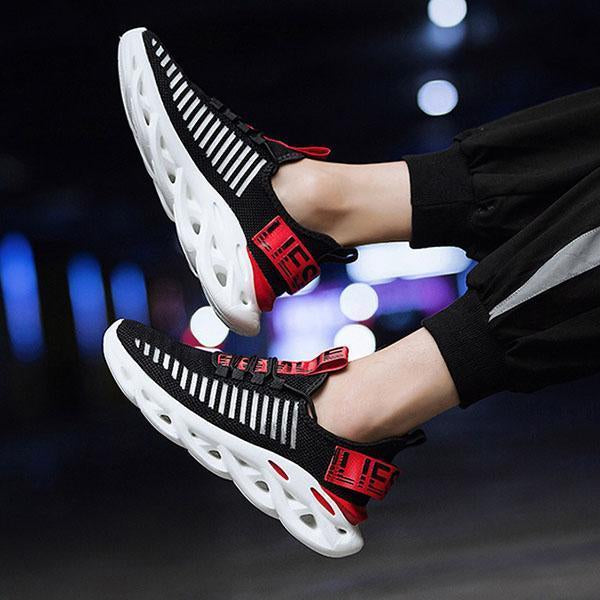 Sportive Fashion Breathable Flyknit Net Surface Running Shoes Sneakers