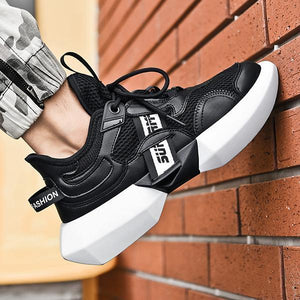 Casual Fashion Breathable High-Top Wedge Sneakers