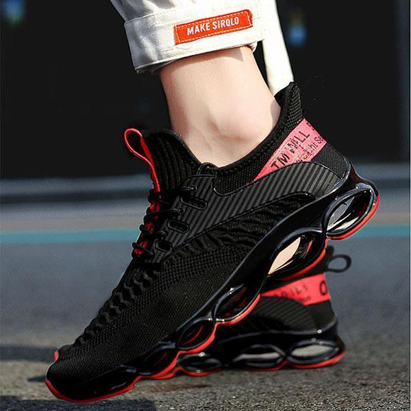 Fashion  Breathable Flying Woven Running Mesh Shoes