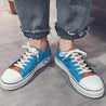 Casual Men's Contrast Color Flat Canvas Shoes