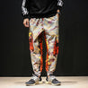 Street style baggy camouflage overalls nine-point harem pants