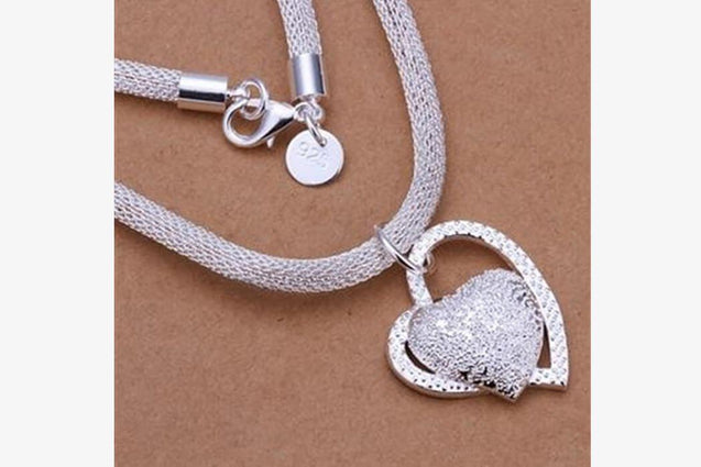 Double Love Stone Heart Necklace