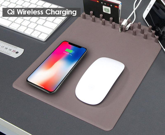 【Hot Sale Now】- Wireless Charging Multi-function Mouse Pad