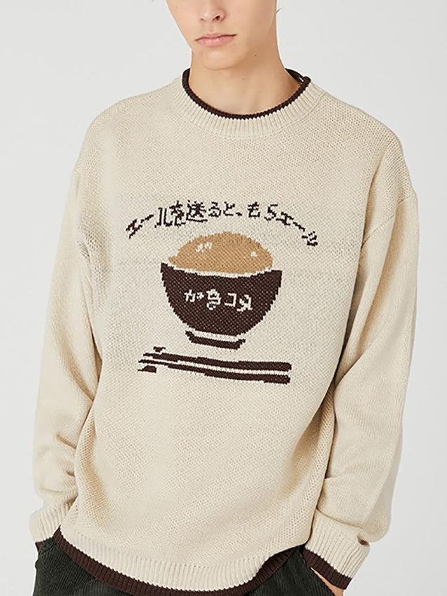 Japanese loose sweater male