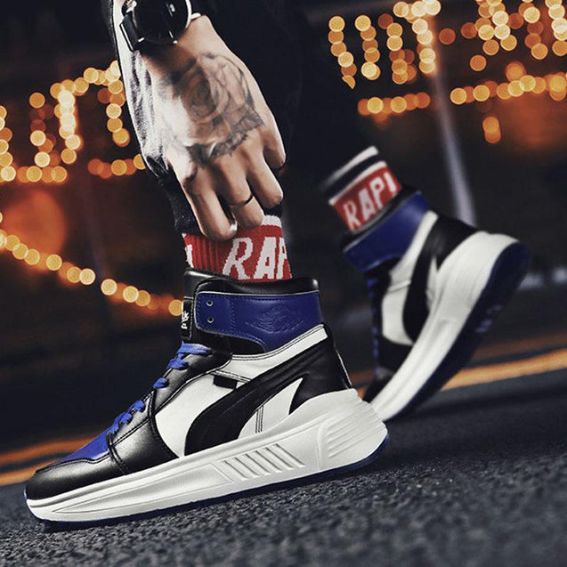 Men's wild color matching high-top sneakers