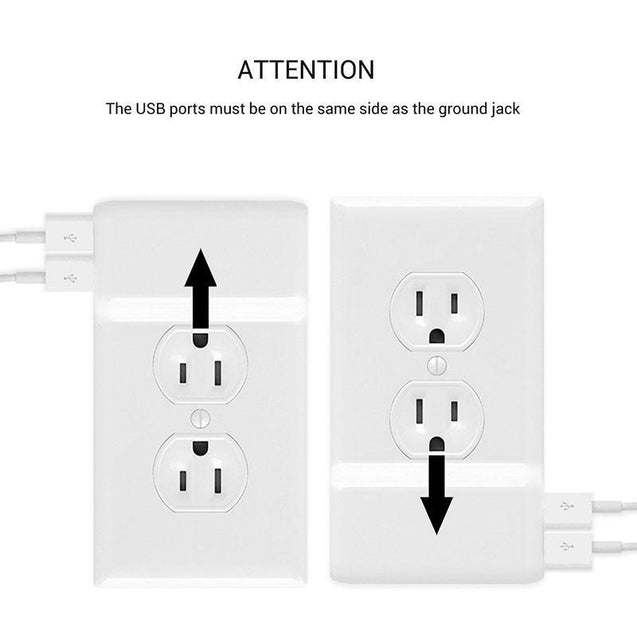 Power Outlet Cover With USB Ports