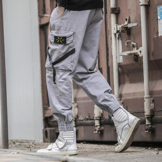 Mens Fashion Poclets Loose Legged Trousers