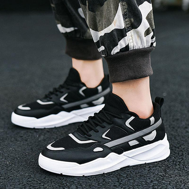 Fashion casuall reflective platform shoes sneakers