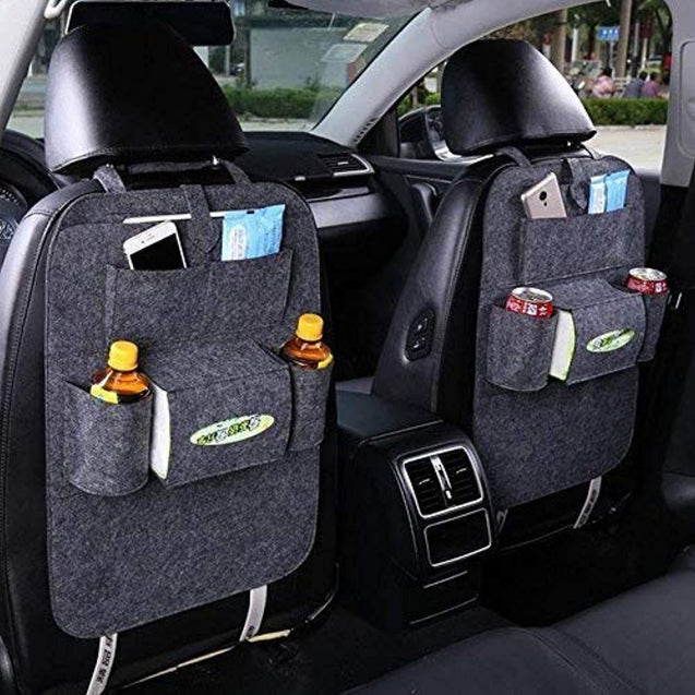 Car Back Seat Organizer Storage Bag Multi Pocket (Set of 2)