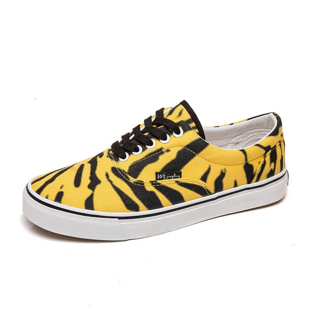 Casual unisex tie-dyeing printed color canvas lovers shoes