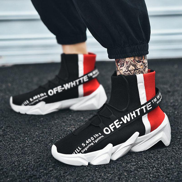 Fashion light breathable letter mixed color sneakers