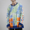 Men's Loose Tie-Dyed Long Sleeve Sweater