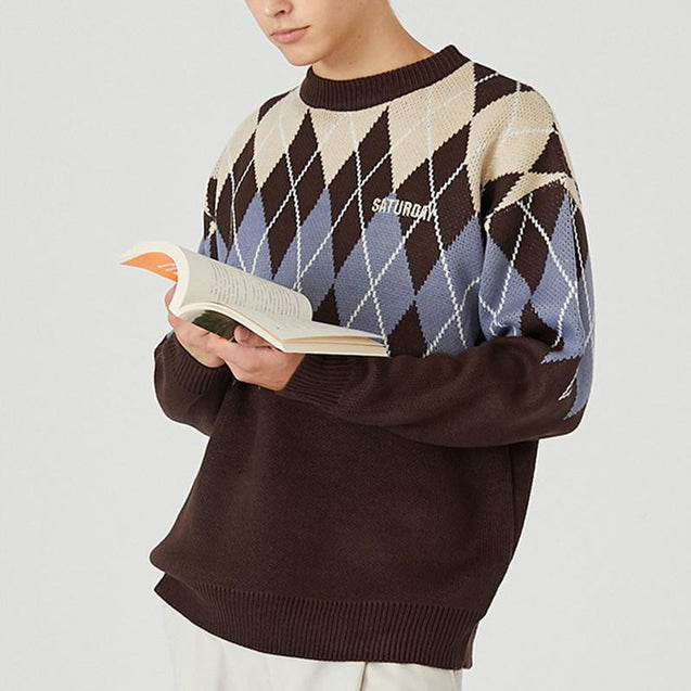 Japanese loose sweater male YD16
