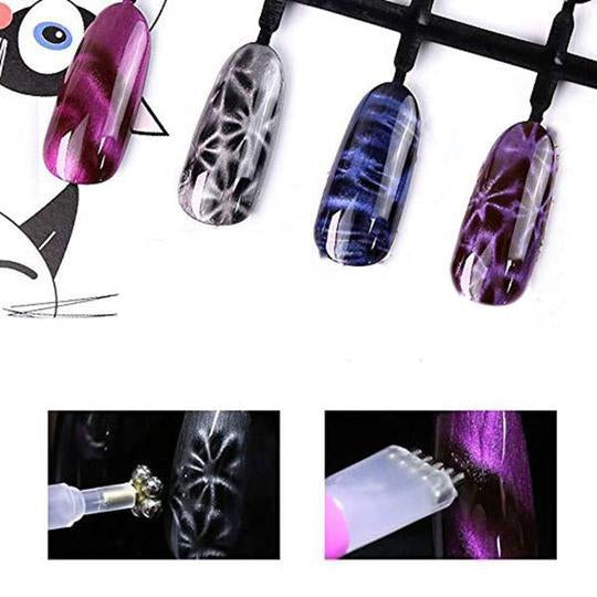 Nail Art Flower Cat Eye Magnet Pen