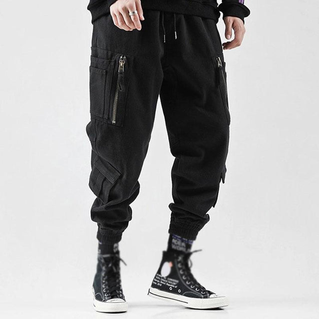 Multi-pocket beamed casual overalls