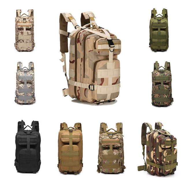 Outdoor multi-function camouflage hiking backpack