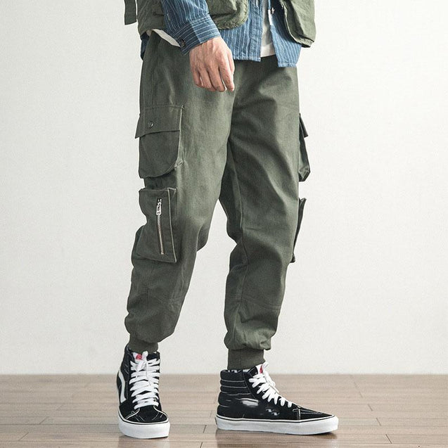 Mens Fashion Pockets Loose Overalls