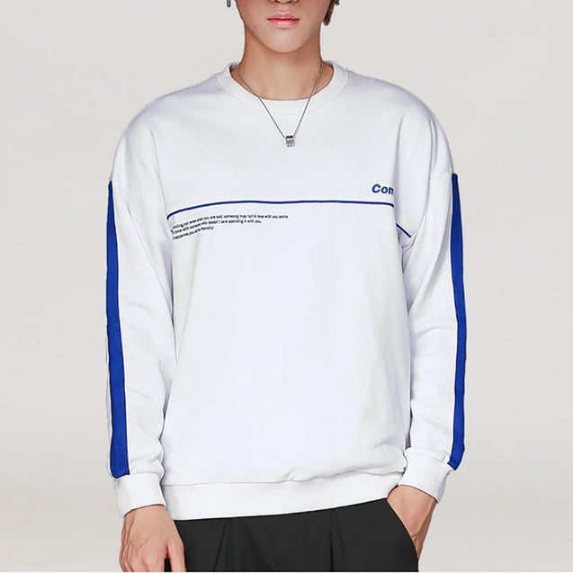 Cotton Casual Male Student Sports Sweater