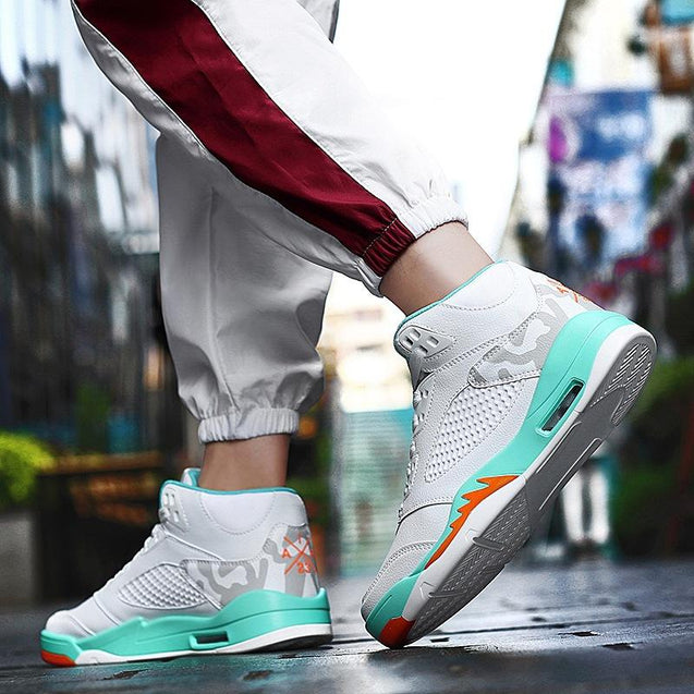 Fashion Men Printed Patchwork Comfortable Sneakers