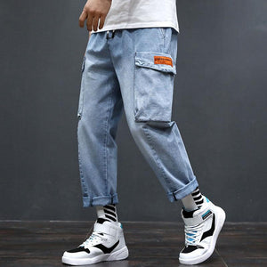 Men Fashion Loose Straight Tooling Jeans