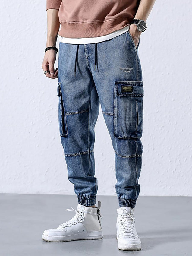 Street style washed jeans