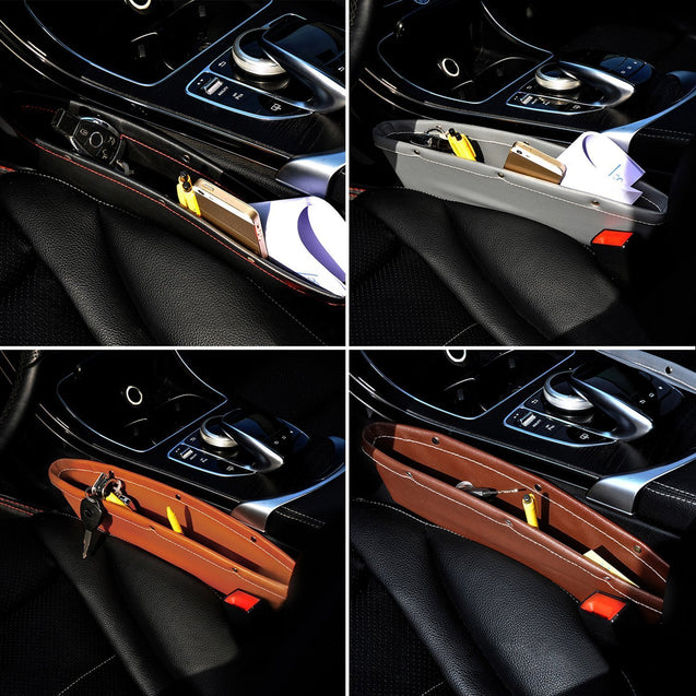 【Hot Sale Now】- Full Leather Console car pocket organizer