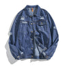 Streetwear A Lapel Hole Men's Jacket