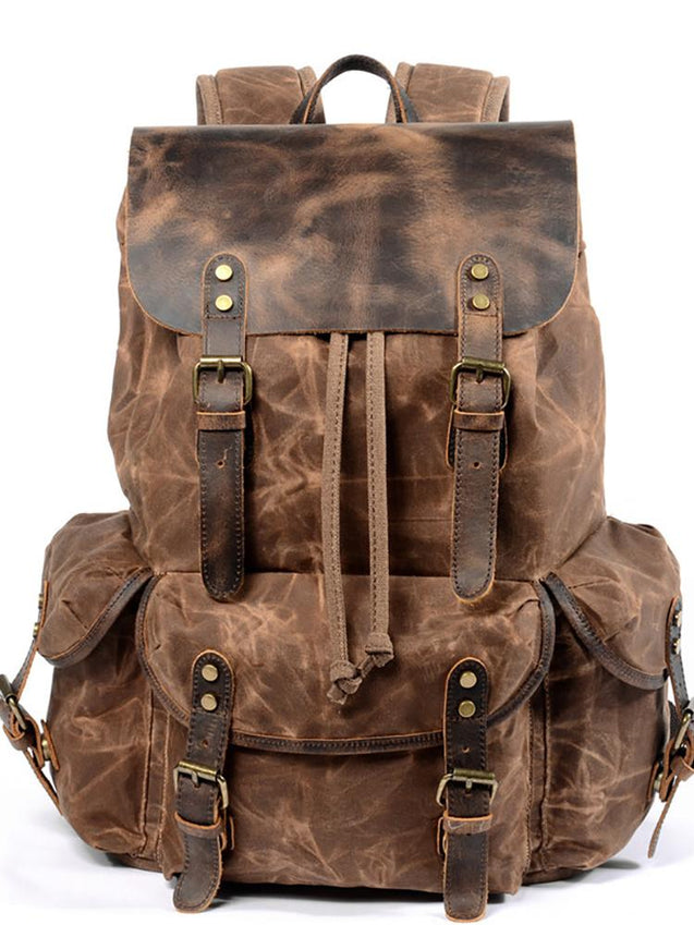 Retro Trend Oblique Travel Backpack