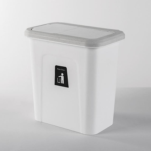 Push-top Trash Can Chef Hanging Automatic Return Lid for Fruit and Vegetable Pericarp