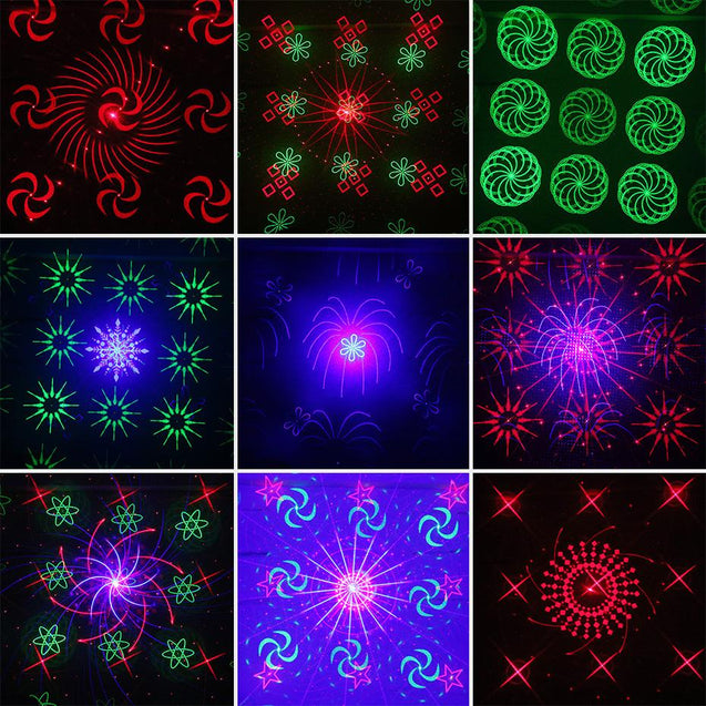 Remote 128 Patterns RGB DJ Laser Projector Stage Lighting