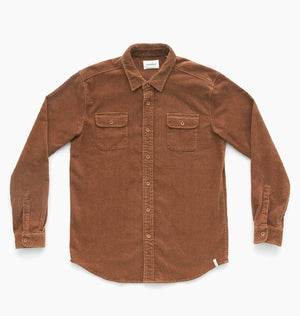 LAZY BONES LS SHIRT - RUST