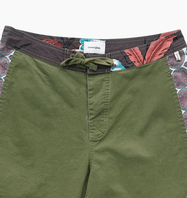 MIXED TAPE FIXED WAIST TRUNK - OLIVE