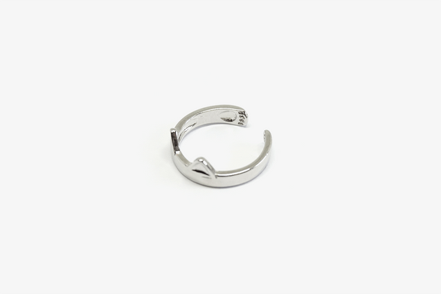 Silver-Plated Cat Ring