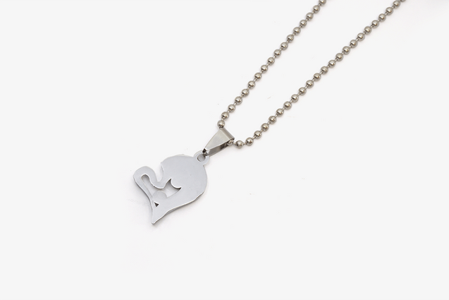 Couple Twin Heart Necklaces