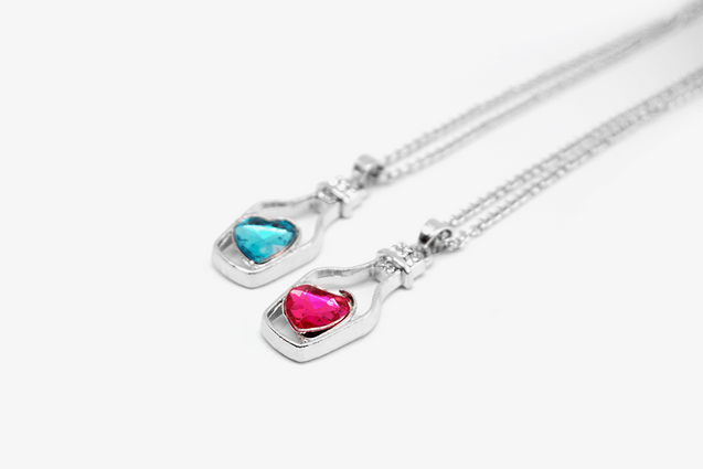 Love In Bottle Crystal Necklace