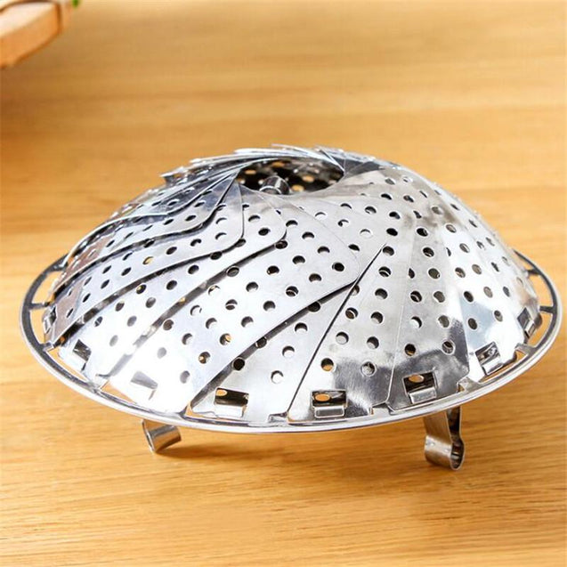 Foldable lotus slice steamer