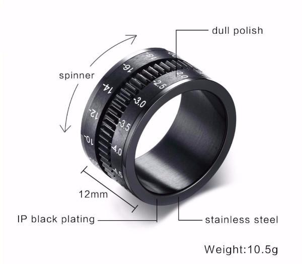 Unique Stainless Steel SLR Camera Lens Ring
