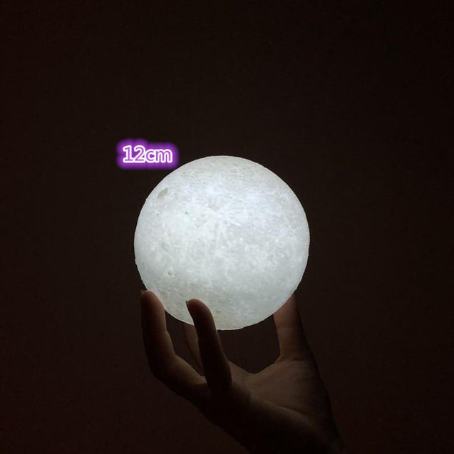 3D printed moon light 2 color touch control night light
