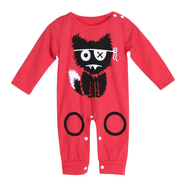 'Pirate Cat' Long Sleeve Romper
