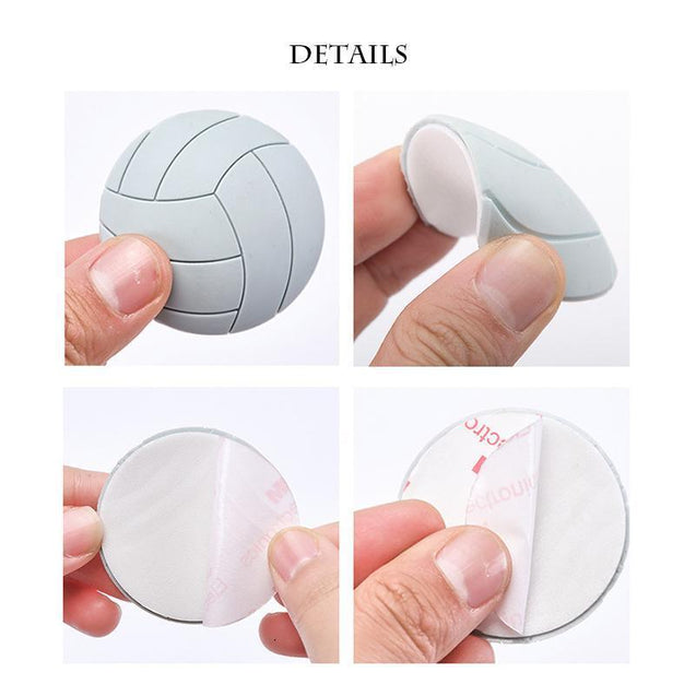 Volleyball Wall Thickening Mute Door Stickers(6 PCS)