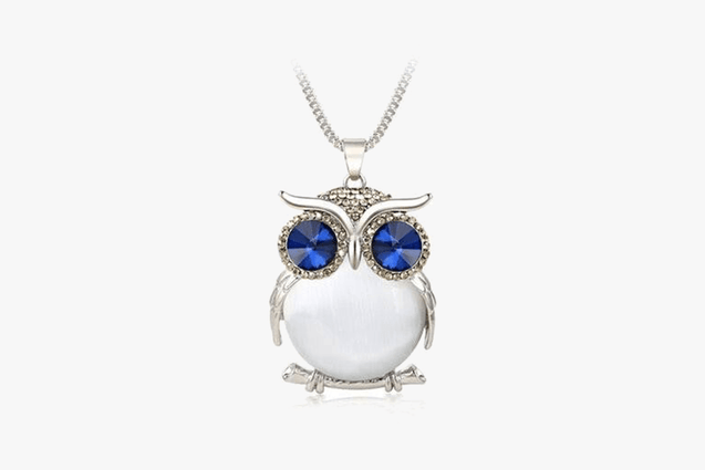 Owl Premium Crystal Necklace