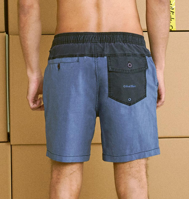 PLAIN JANE BOARDSHORT - BLUE GRANITE